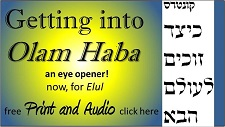 Getting into Olam Haba
